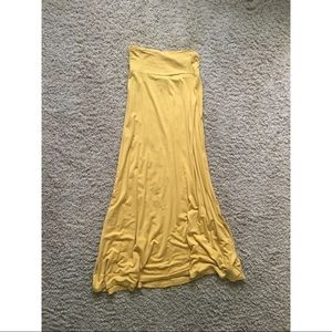 Long Yellow Maxi Skirt from Nordstrom